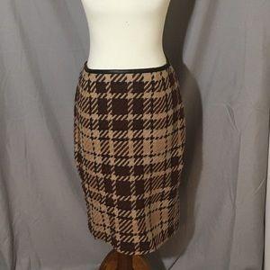 Dresses & Skirts - Finity Studio Brown Pattern Pencil Skirt